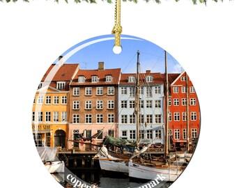 Copenhagen, Denmark Christmas Ornament in Porcelain, Copenhagen Ornaments
