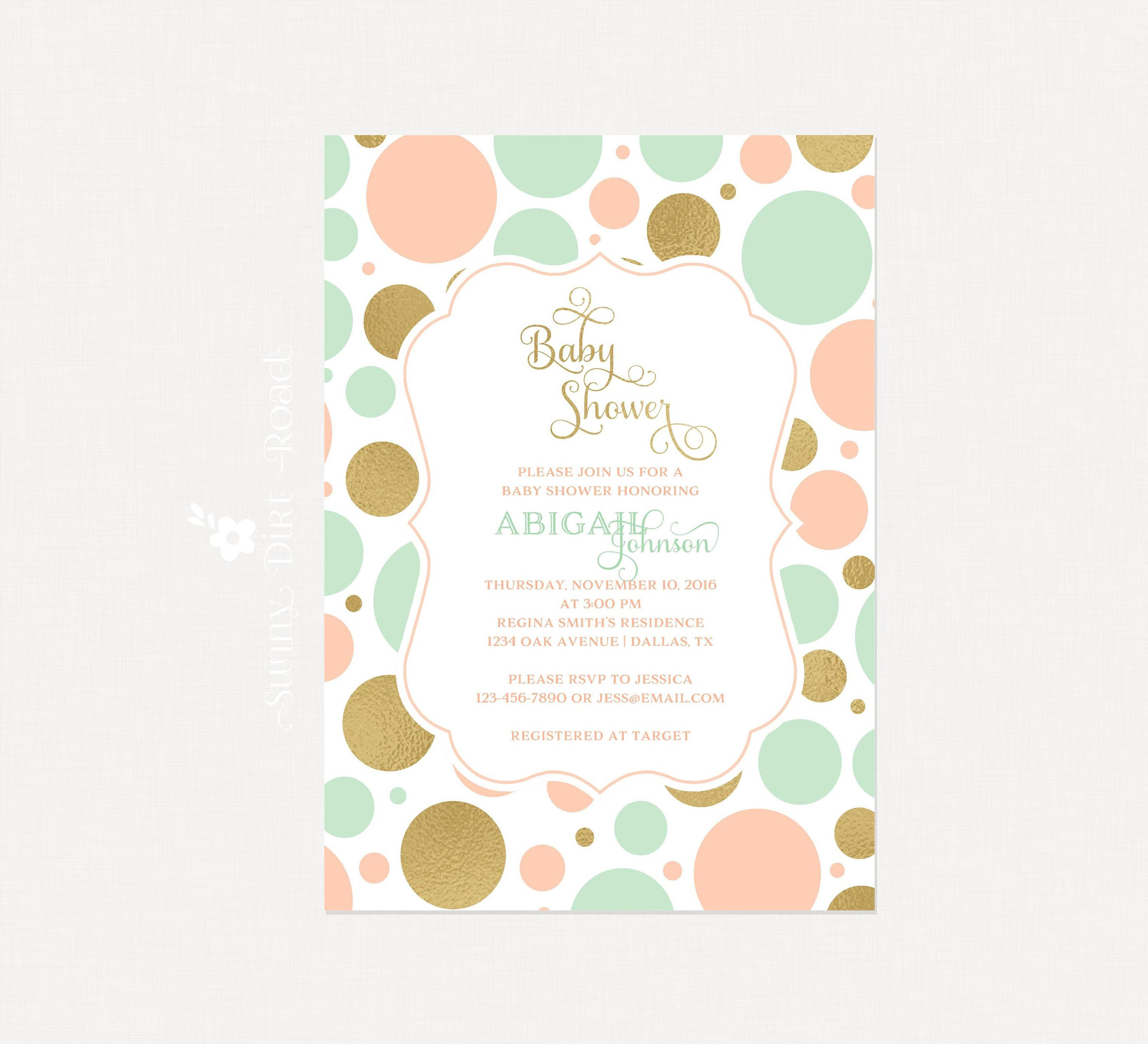 picture blank bridal paper baby blush shower glitter pink print invitation invitations collection gold wedding unique bunny