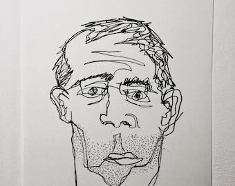 Pen Illustration Portraiture