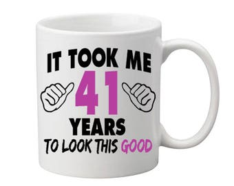 41 Years Old Birthday Mug Happy Birthday Gift Birthday Coffee Mug Coffee Cup Born in 1976 Personalized Mug ALL AGES AVAILABLE