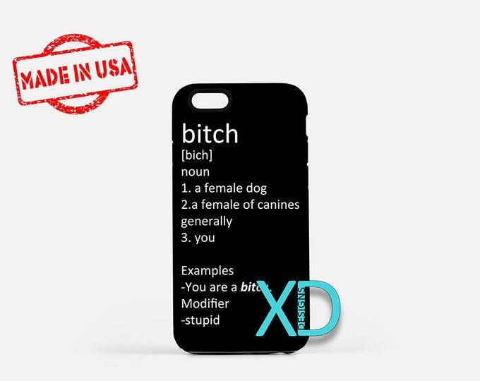 Bitch Definition iPhone Case, Vulgar iPhone Case, Bitch iPhone 8 Case, iPhone 6s Case, iPhone 7 Case, Phone Case, iPhone X Case, SE Case