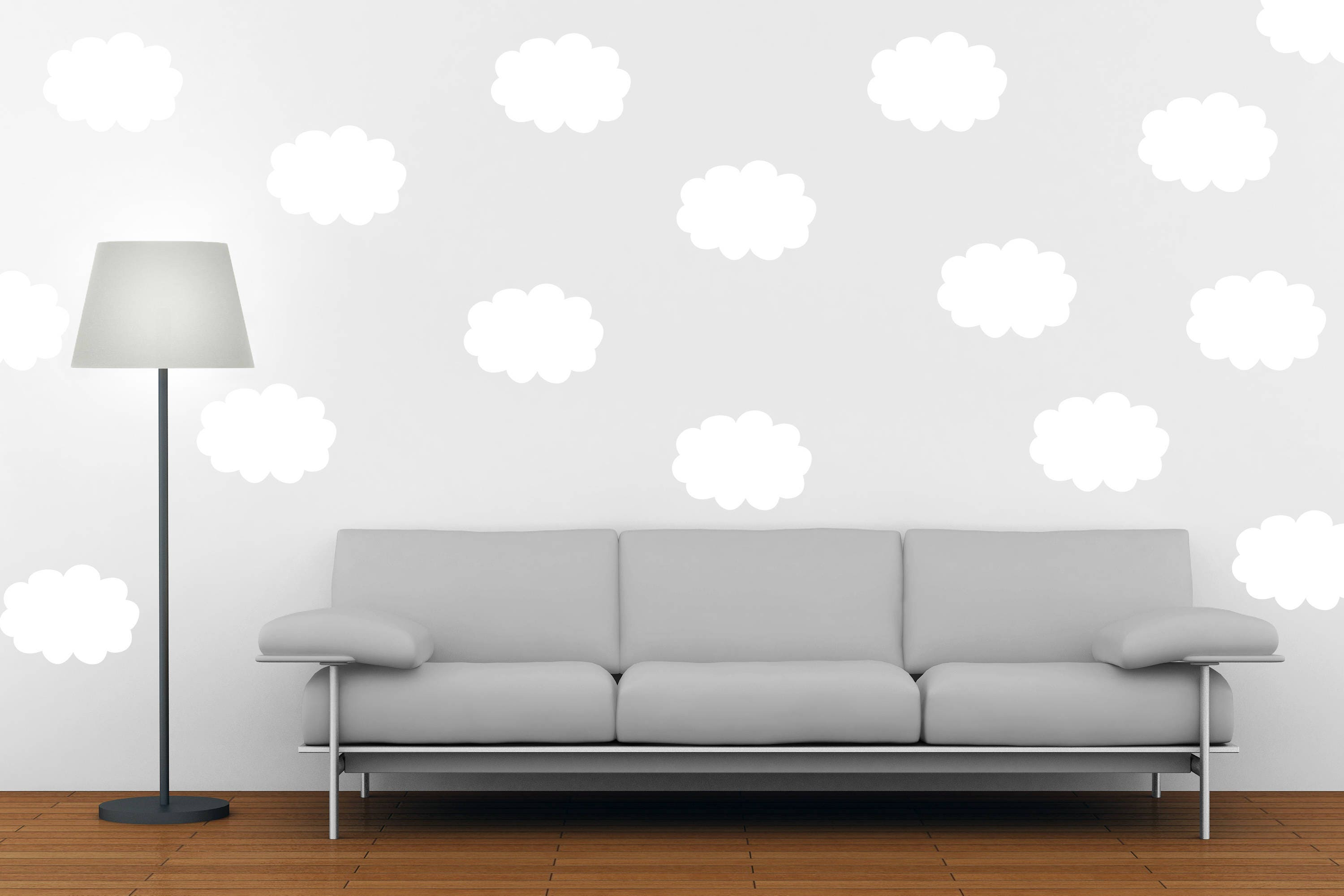 Cloud Wall Decal   Cloud Wall Decor   Vinyl Wall Decal   Clouds   Clouds  Decals   Home Decor   Cloud Wall Art