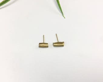 Short Brass QOFFEA BAR Earrings