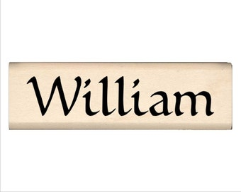William - Name Rubber Stamp for Kids