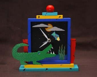 Gator clock - blue