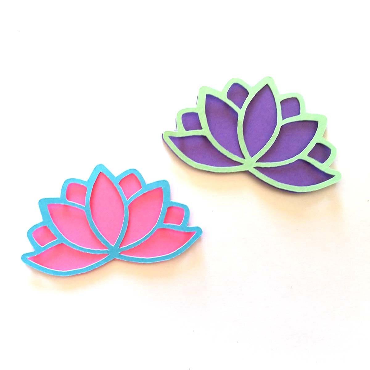 25 Pack Paper Lotus Flower Shapes Lotus Flower Die Cut Lotus
