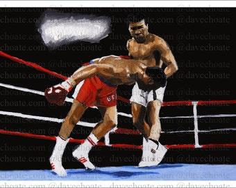 Muhammad Ali Knockout of George Foreman Art Photo Print