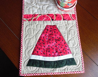 Watermelon table runner, watermelon table topper, watermelon runner,  watermelon topper, watermelon centerpiece, watermelon linen,