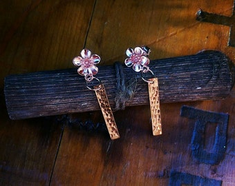 New! Rose gold drops. Little floral beauties! Wedding accessories.