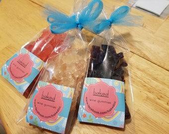 wine gummies-individual flavor 2oz packages