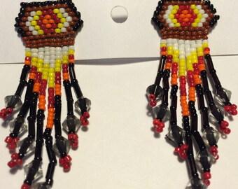 Seed Bead Stud Earrings