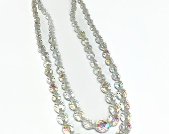 Original Vintage Multi-Faceted Crystal Necklace