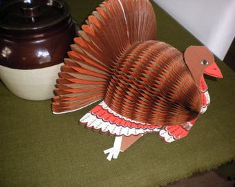 Vintage Thanksgiving Turkey Decoration