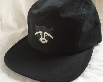 Racoon 5 panel hat