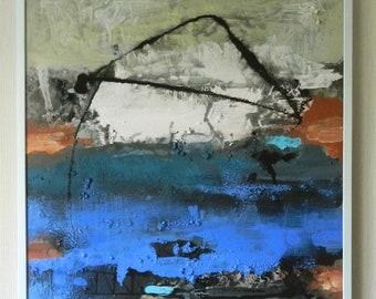 "Original Abstract Painting,Frame 35x31""- High Quality Canvas,Ready to Hang,Modern Art,Acrylic Painting,Room Decor,Mykola Kuryliuk"