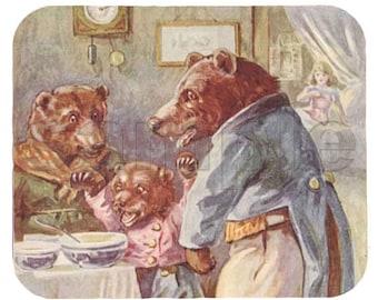 Mouse Pad; Goldilocks And The Three Bears