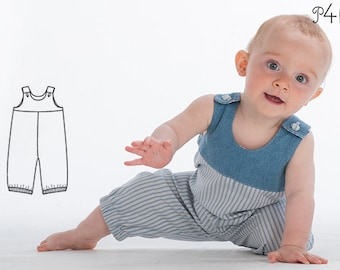 Baby-pants pattern, one piece jumpsuit dungaree pattern, trousers, romper, children, boys, girl, sewing pattern