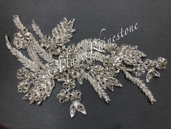 Crystal Lace Applique Pair #LA-3