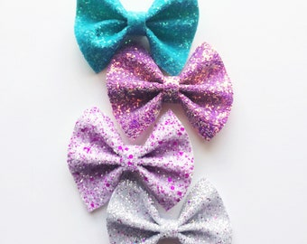SPRING / SUMMER BOWS-  new style / Neon pink/ purple/ blue/ neon yellow/ coral /silver