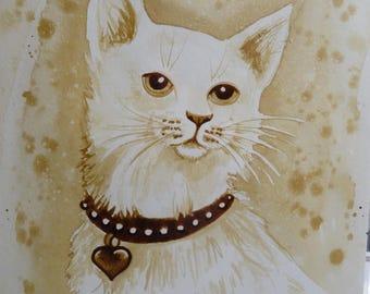White Cat coffee art