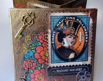 Steampunk decorated small trinket box