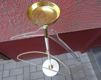 Vereinigte Werkstätten Munich vintage valet stand brass lucite Stummer Diener 60s