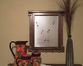 Jewelry Organizer// Jewelry Organizer Wall Mount//Earring Display//Jewelry Display//