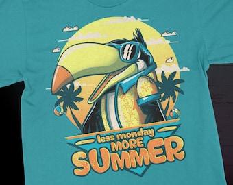 Less Monday More Summer Cool Toucan T-Shirt