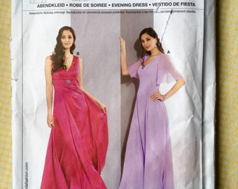 Burda Uncut Vintage Sewing Pattern 7572 - Evening Dress Sizes 10 to 22 - English, French, Spanish