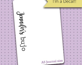 Personalized Bullet Journal Decal - Decal for Bullet Journals/Planners - Bullet Journal gift