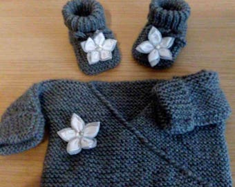 life jacket baby booties size 0/3 months