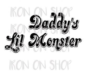 Harley Quinn Daddy's Lil Monster Iron-on Transfer
