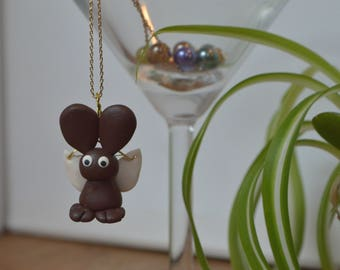 Flying Dierklei Bunny Necklace