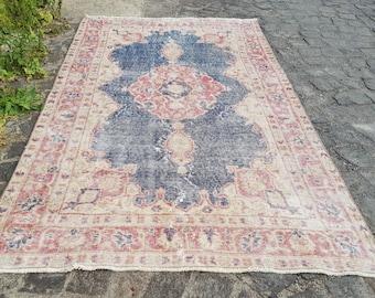 Turkish Rug    Oushak Rug Muted Color Rug  Cappadocia Rug Pink Rug Runner Rug Anatolian Rug Carpet  83 x 46 inches