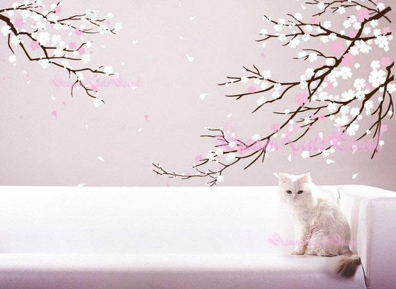 Perfect Cherry Blossoms Wall Decal Wall Sticker Tree Decals DK006