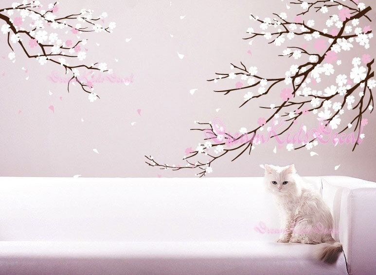 Fantastic Cherry blossoms Wall Decal Wall Sticker tree decals-DK006 BP92