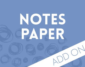 Planner Add-on : Note Pages