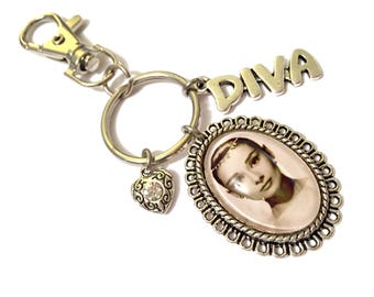 Breakfast at Tiffany's Audrey Hepburn Jewelry Charm Pendant Handbag Charm Keyfob