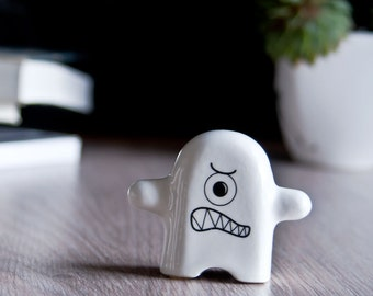 Funny Monster Ceramic Figurine, Porcelain Figurine, Christmas gifts