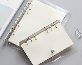 A5 A6 Planner Binder, planner cover, a5 planner binder, 6 ring binder, bookmark ruler, refill planner, planner organizer, clear binder