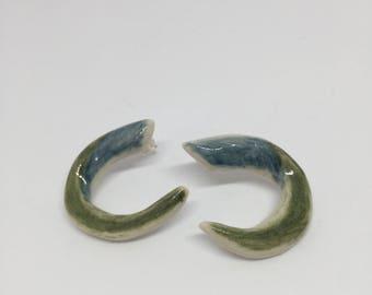 BLue & Green Vintage Earrings