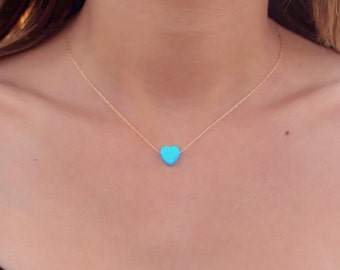 Blue opal necklace etsy more colors opal necklace mozeypictures Gallery