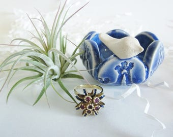Air plant planter, Ring holder, Cubicle decor, home decor Desk decor, Desk planter gift, Made to order