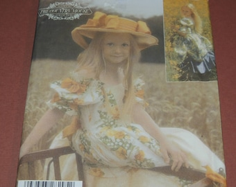 Uncut 3-6 County Mouse Collection Fancy Girls Dress pattern Simplicity 4980