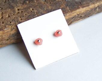 Flower Earrings, Floral Earrings, Pink Earrings, Pink Flowers, Tiny Earrings, Etsy, Etsy Jewelry, Plastic Earrings, Post Earrings