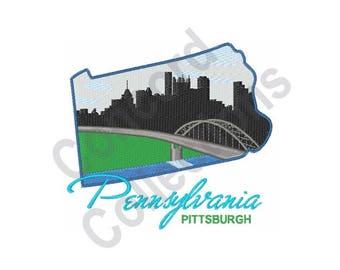 Pittsburgh, Pennsylvania - Machine Embroidery Design