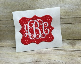 Applique Frame Embroidery Design