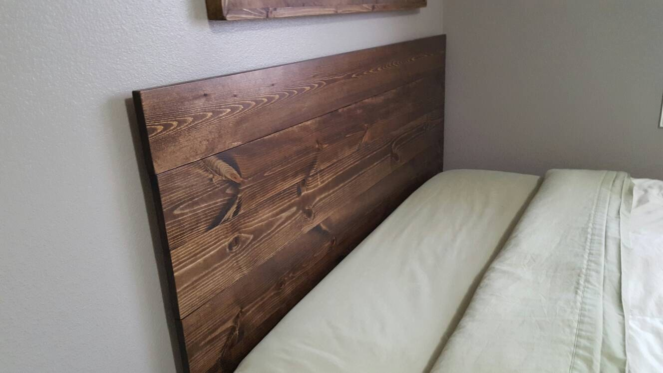 Queen twin size king full planked wood headboard rustic