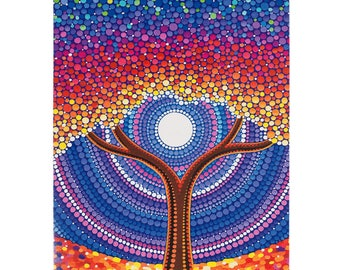 POSTCARD- Rainbow Tree of Life by Elspeth McLean