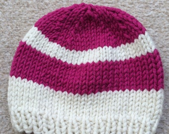 Baby Hat with Stripes, Size 12-18 months